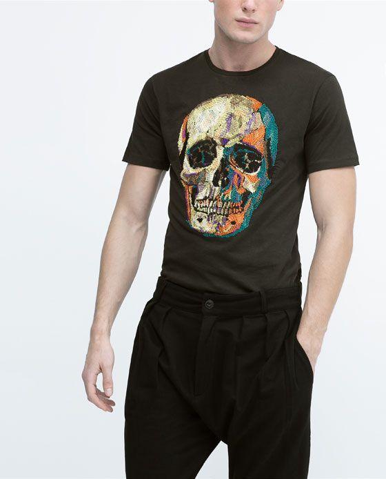 ZARA - HOMME - T-shirt brodé   Fringues pour