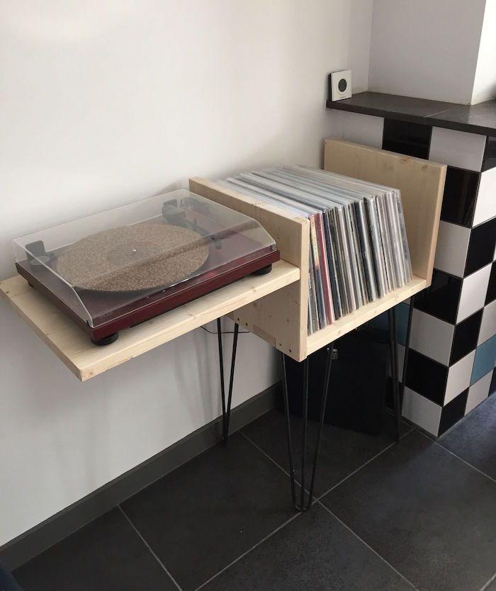 1001 + idées | Rangement vinyle, Meuble pour platine vinyle et Stockage de vinyle