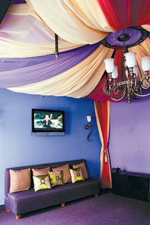 Morrocan Fabric Ceiling I Love These Drapes Can Be