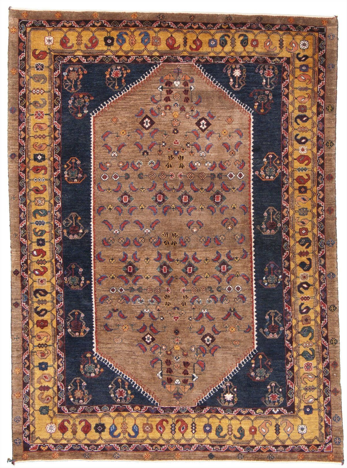 New Persian Hand Knotted Kashkooli Gabbeh Tribal Rug