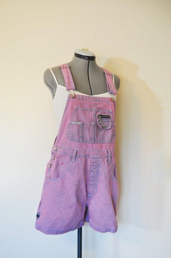 af271918636 Pink Jrs. Large Bib OVERALL Shorts - Dyed Mauve Pink Revolt Cotton ...