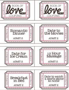 Free Printable Valentine Coupon Booklet  Free Coupon Book Template