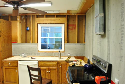 How To Hang Cement Backer Board For A Wall Full Of Tile Young House Love Young House Young House Love House
