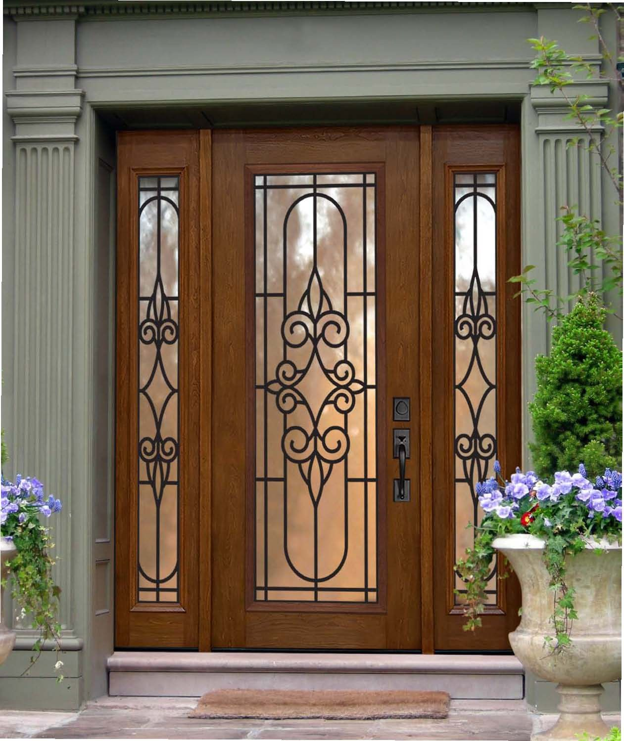 Entry doors sidelights this is what i would love to for Wood and glass front entry doors