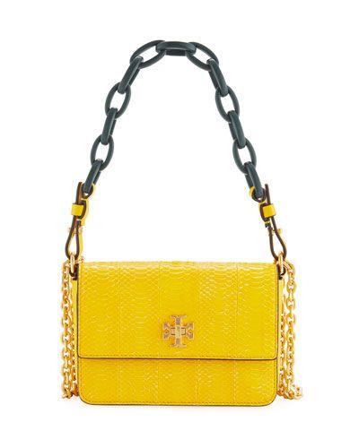 07681b1c1c TORY BURCH KIRA SHINY SNAKESKIN MINI SHOULDER BAG. #toryburch #bags  #shoulder bags #hand bags #