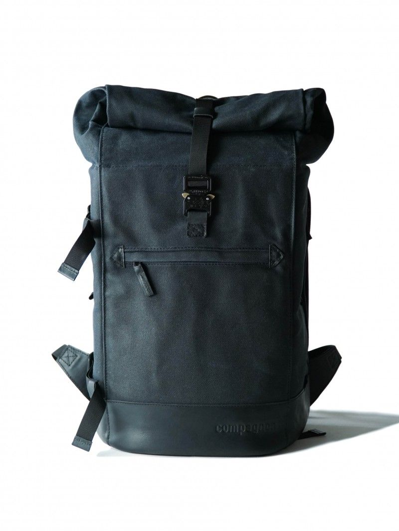 67d7fd5bb86f8 compagnon backpack Fotorucksack Leder   Canvas dunkelblau. compagnon  backpack Fotorucksack Leder   Canvas dunkelblau Rucksack Herren Schwarz ...