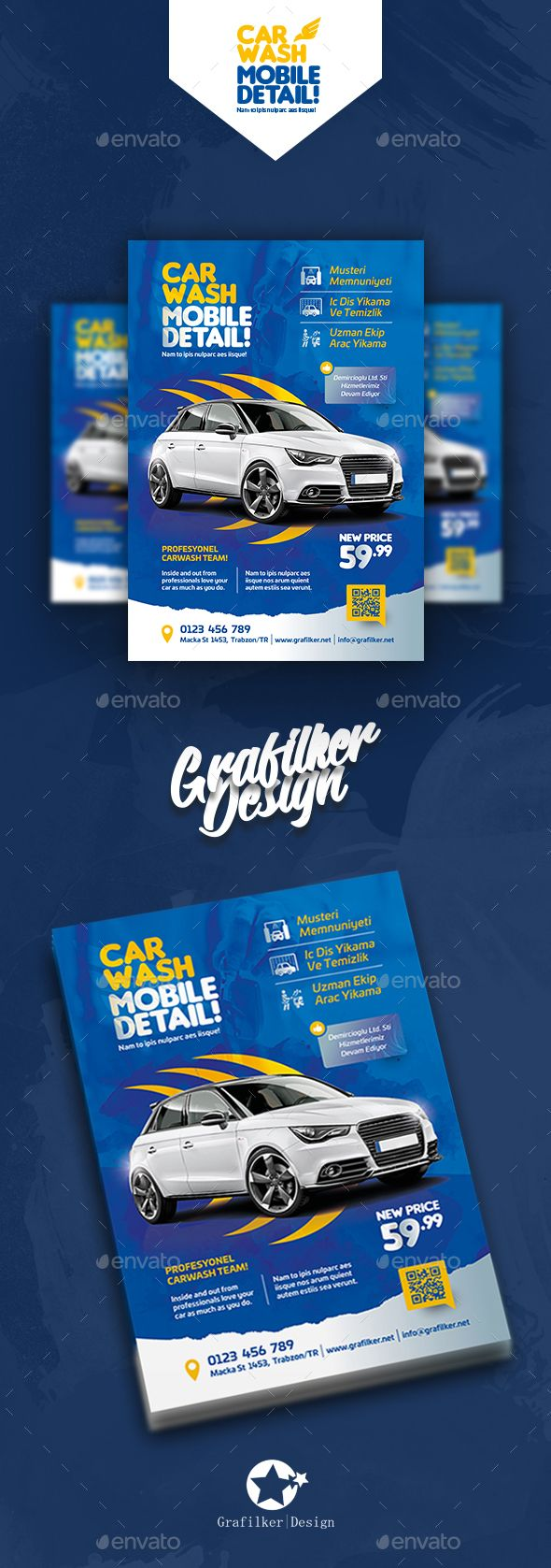 Car Wash Flyer Templates Psd Indesign Indd Flyer Templates