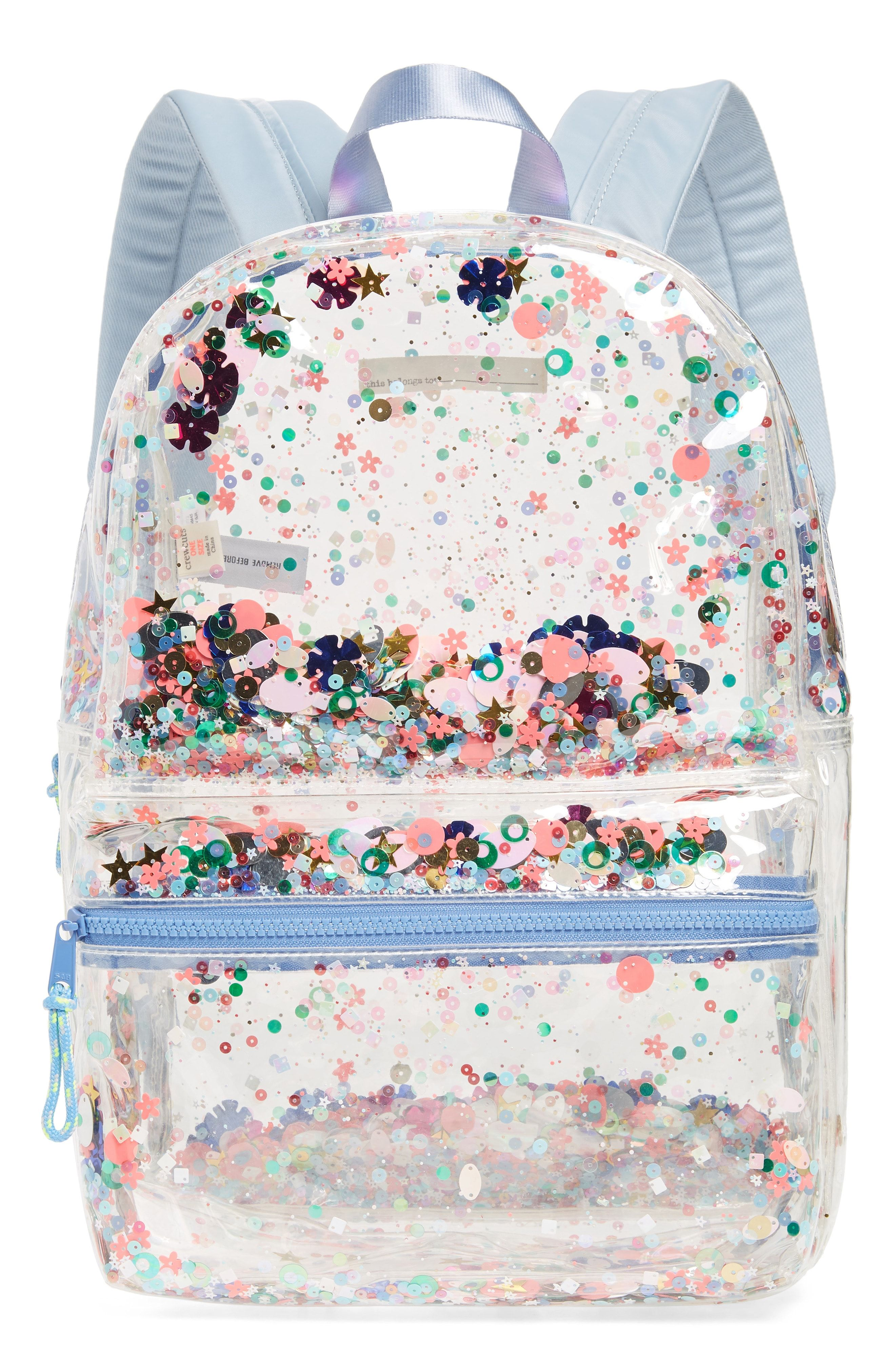558fdf609d96 crewcuts by J.Crew crewcuts by J. Crew Clear Sequin Backpack available at   Nordstrom