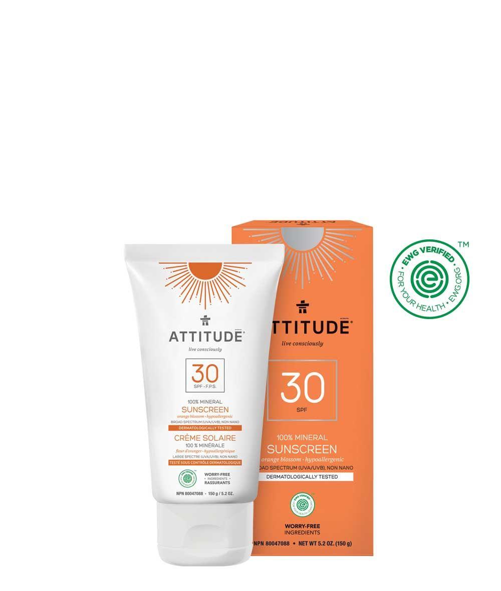 Mineral Sunscreen Spf 30 Orange Blossom 150 G Mineral Sunscreen Spf Sunscreen Sunscreen