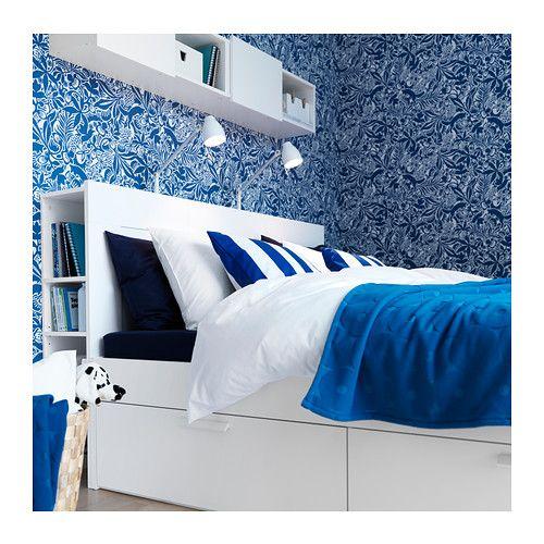 BRIMNES Sängstomme med förvaring, vit | La cama, Ikea y Camas