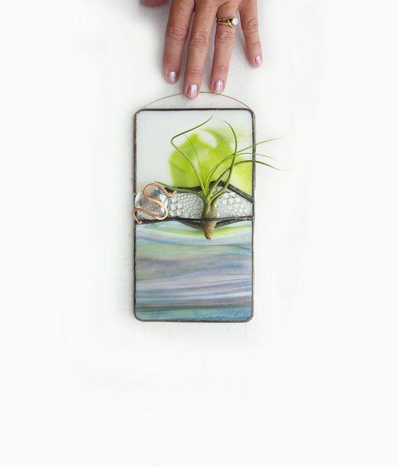 Porte-verre teinté panneau usine Air  chaux Gully par glassetc