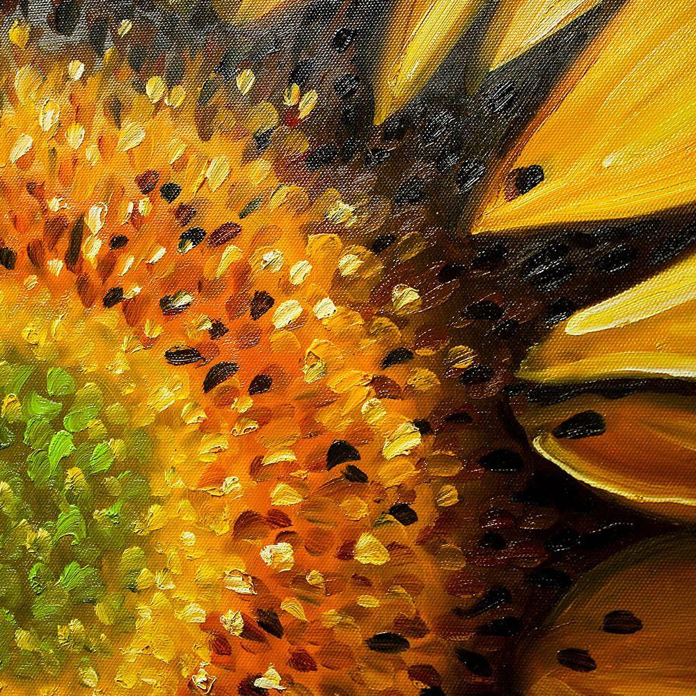 해바라기 그림은 풍수인테리어서 가장 대표적인 '돈을 부르는 그림 (돈이들어오는그림)'입니다. 해바라기의 노란색이 金을 상징하며, 꽃이 흙(土)에서 피어나 결실을 맺기때문에, 재물운을 향상시키고자 하시는 분에게 안성맞춤입니다. 주로 거실이나 현관에 많이 장식하며,