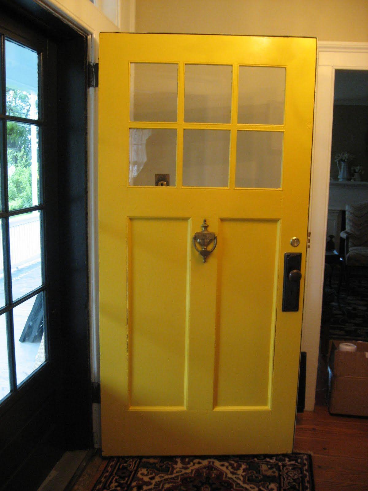 Benjamin Moore Imperial Yellow Basement Door In 2019