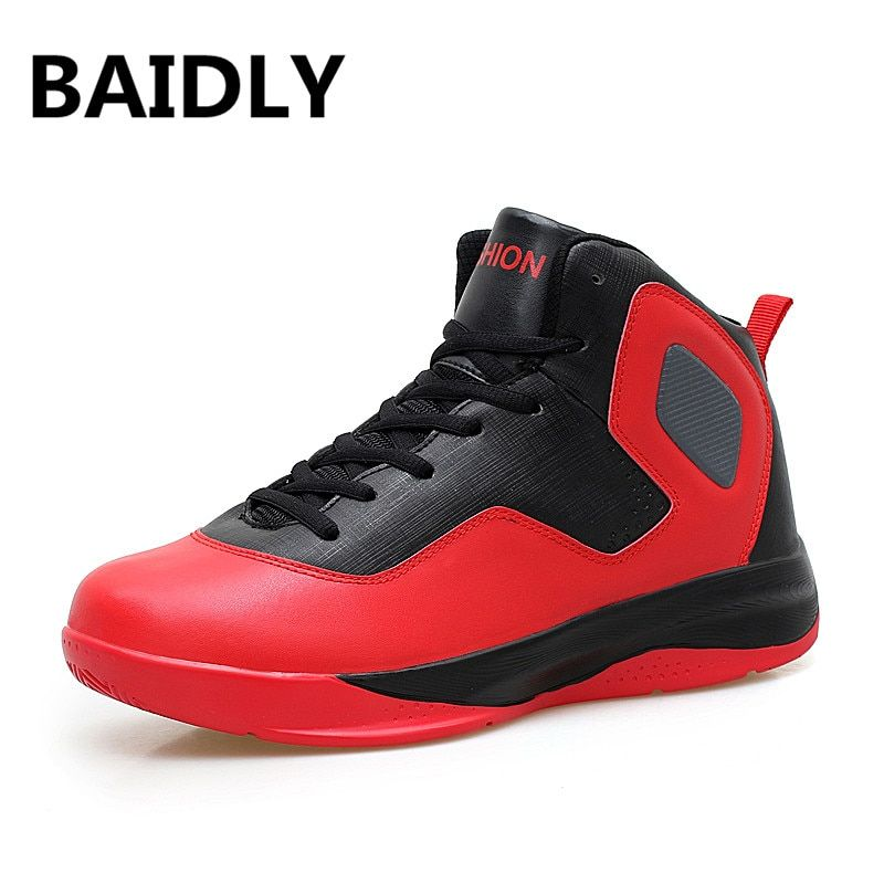46c09effeae2c6 Men Basketball Shoes High Top Sneakers Boys Sport Shoes Men  S Basketball  Shoes For Men Wear-Resistant Non-Slip Shoes