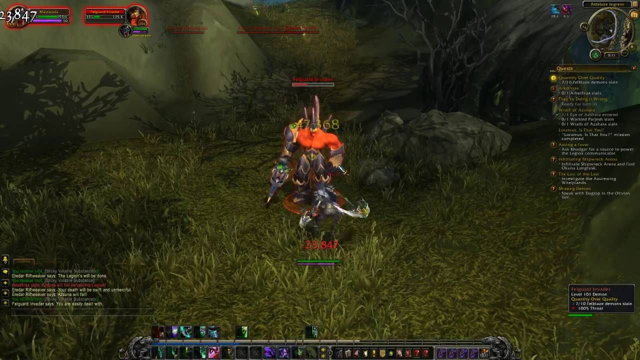 Cool Wow Legion Beta Demon Hunter Gameplay Demon Hunter World Of Warcraft World