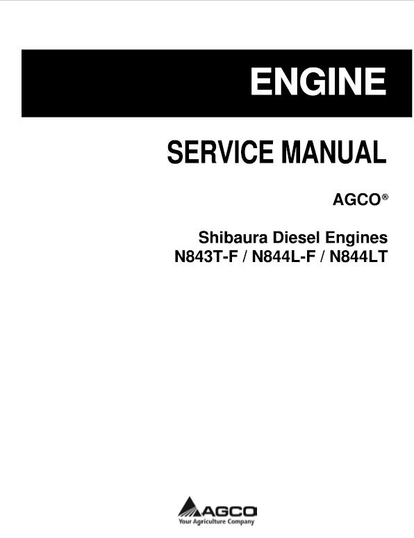 Shibaura Diesel Engines N843t F N843l F N844lt Manual Diesel Engine Diesel Engineering