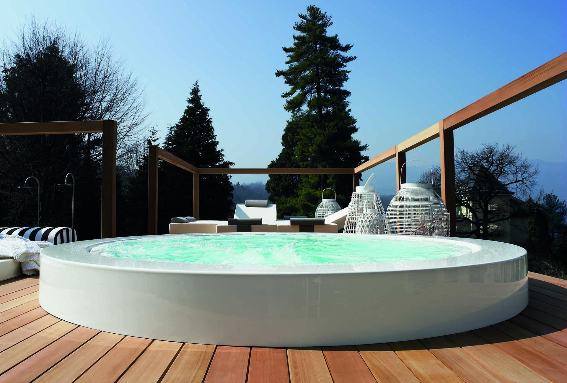 Vasca Da Bagno Per Esterno : Vasca da bagno in pietra riverstone cm bambù design milano