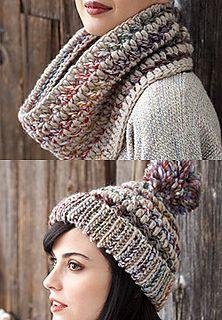 1b5cadd855a Big Stitch Hat and Cowl - free pattern on ravelry