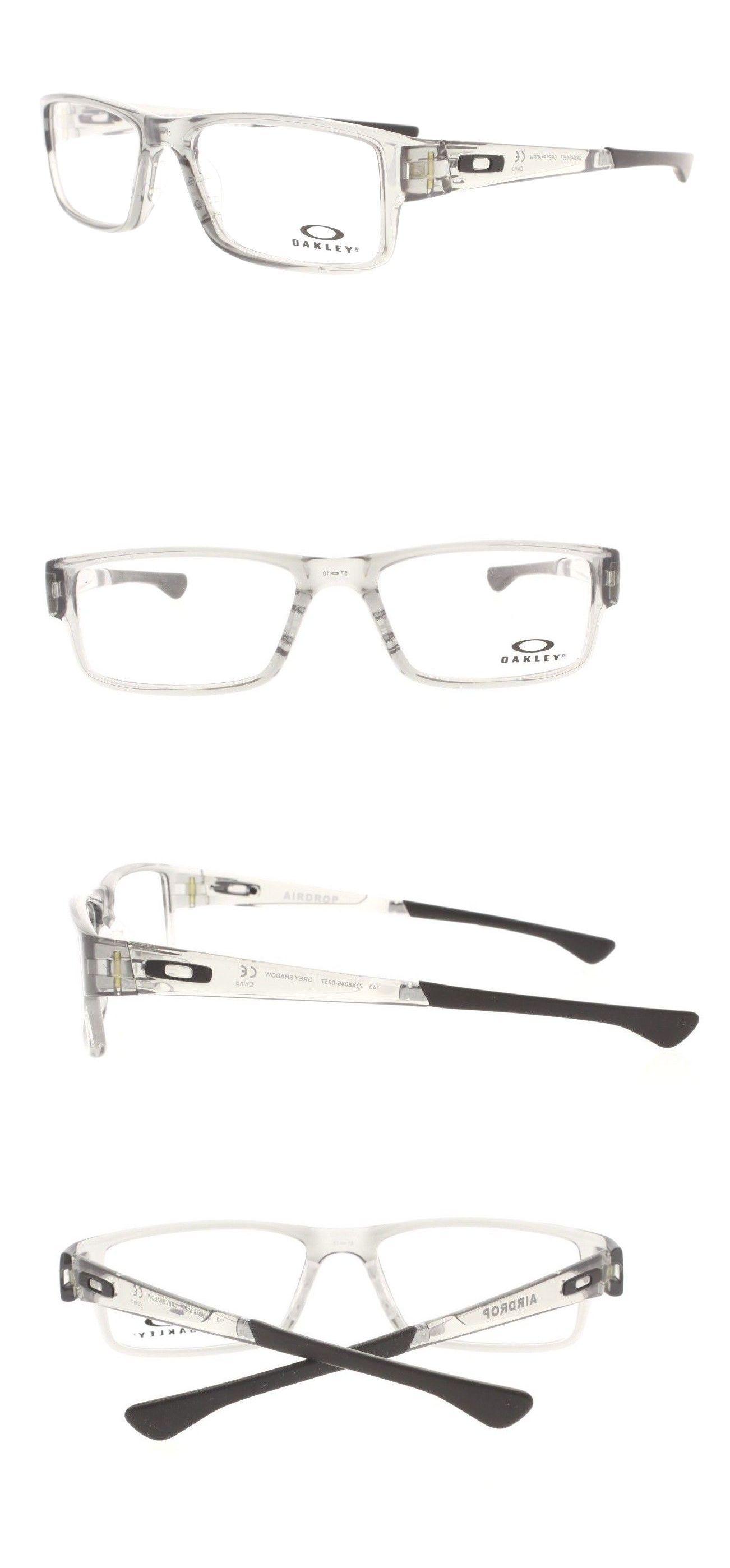 b32078dff6 Eyeglass Frames 180957  Oakley Airdrop Ox 8046-0357 Grey Shadow Rx  Eyeglasses 57Mm Auth