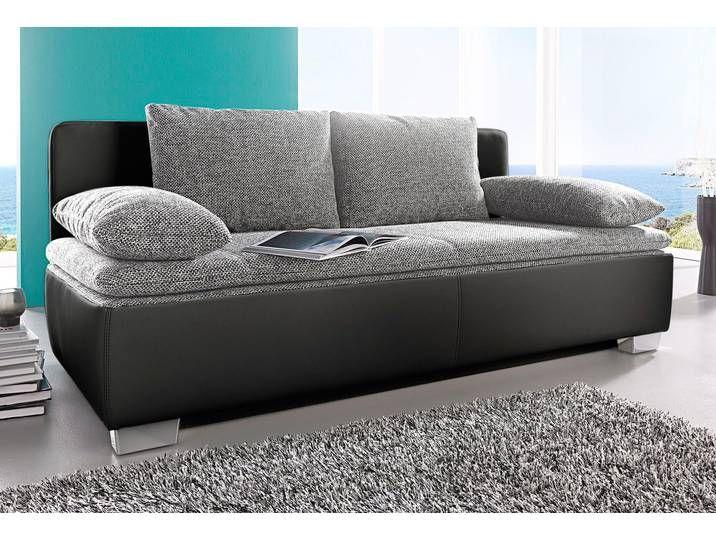 Schlafsofa Schlafwelt Xxl Liegeflache 160 200 Cm Schwarz Sofa