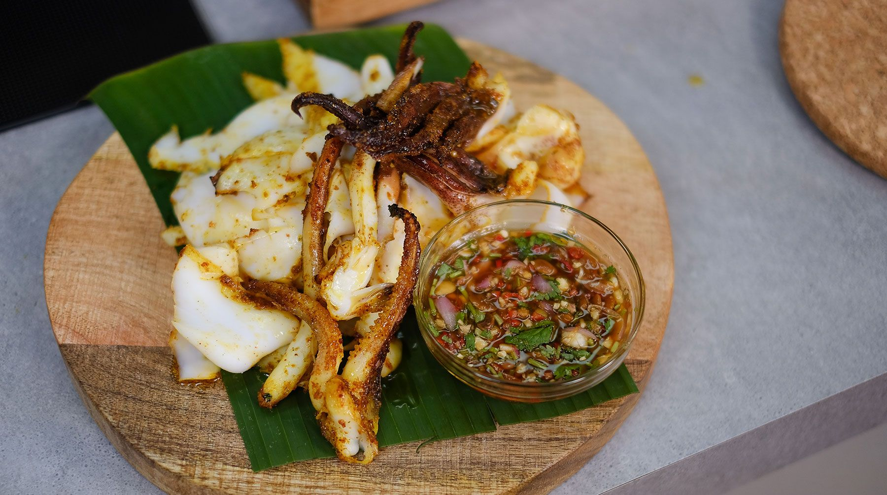 Spiced Grilled Cuttlefish with Tauchiu Dip Try this quick ...
