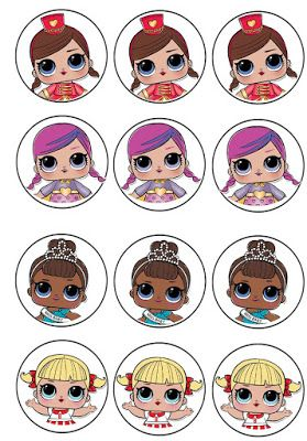 L O L Surprise Cupcake Toppers Lol Doll Cake Lol Dolls