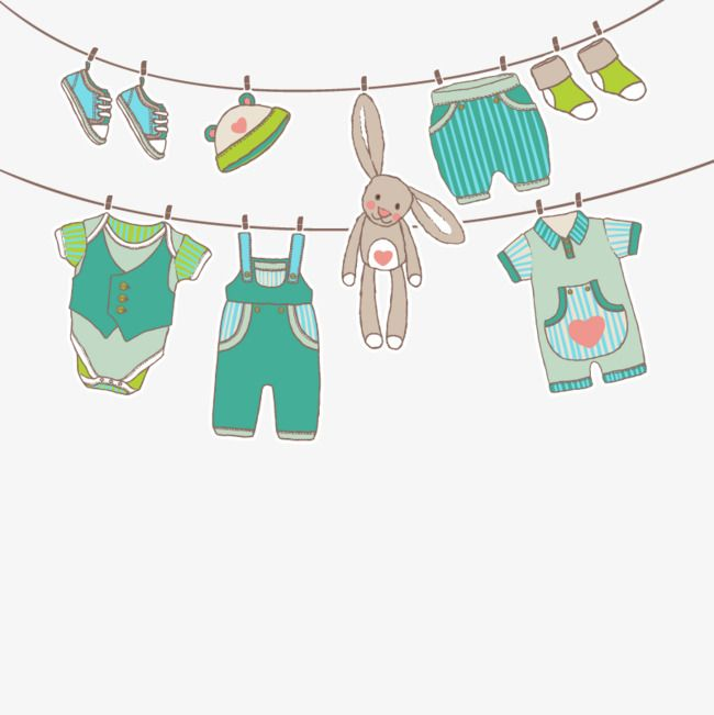 Vector Hanging Clothes Clothes Clipart Hd Vector Png Transparent Clipart Image And Psd File For Free Download Baby Clip Art Baby Art Baby Boy Cards