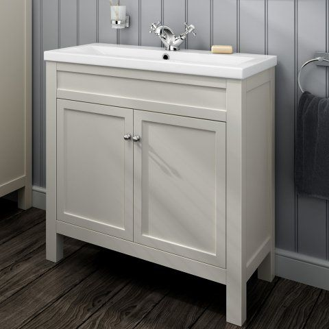 Swell 800Mm Melbourne Ivory Double Door Vanity Unit Floor Home Remodeling Inspirations Basidirectenergyitoicom