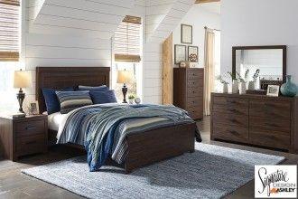 Arkaline Brown 6 Piece Queen Bedroom | Surplus Furniture And Mattress Warehouse  Store In Calgary