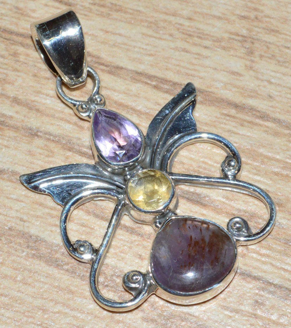 Cacoxenite Super Seven 925 Sterling Silver Pendant Jewelry JJ4014 - JJDesignerJewelry