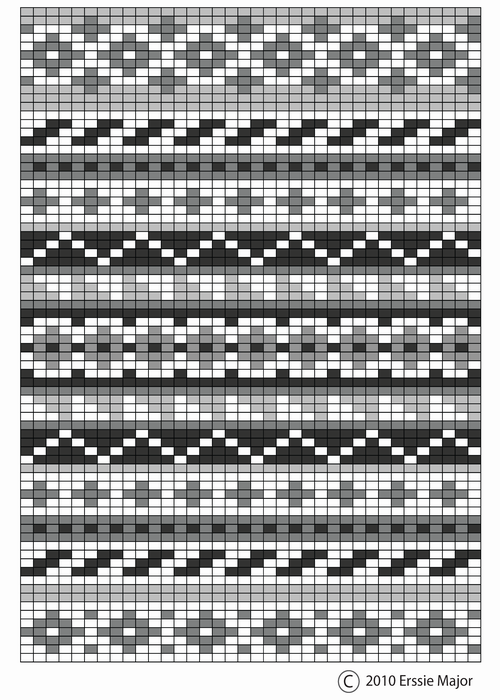 fair isle pattern - beautiful as an embroidery pattern too. border ideas for ...