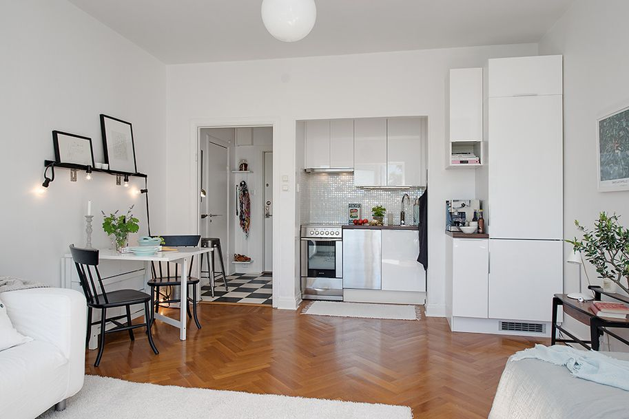 Design Kitchen Small Apartment Charming 26 Sqm Apartment In Sweden Offering The Best Of Two Eras