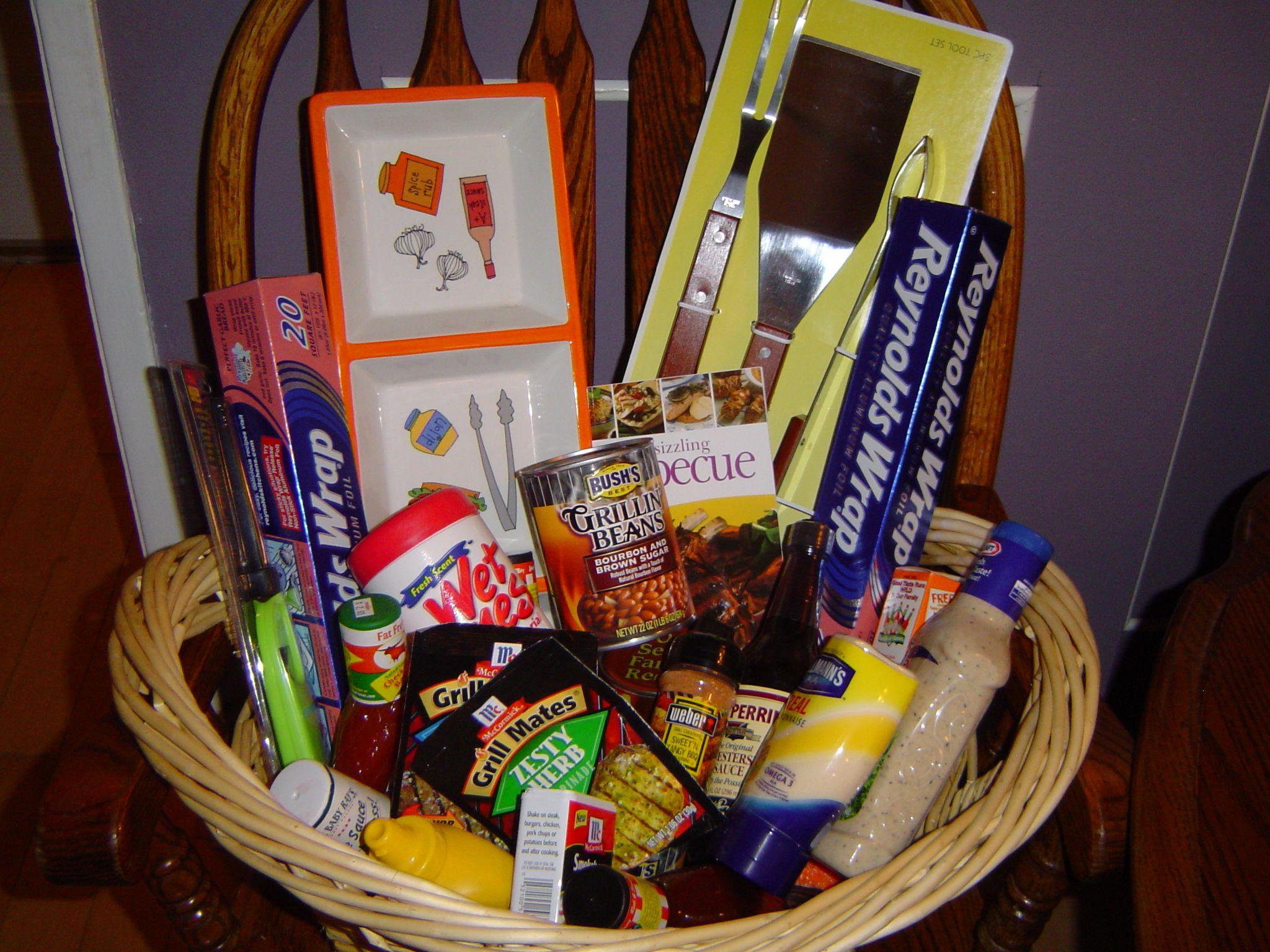 Bbq basket my sister i put together basket diy