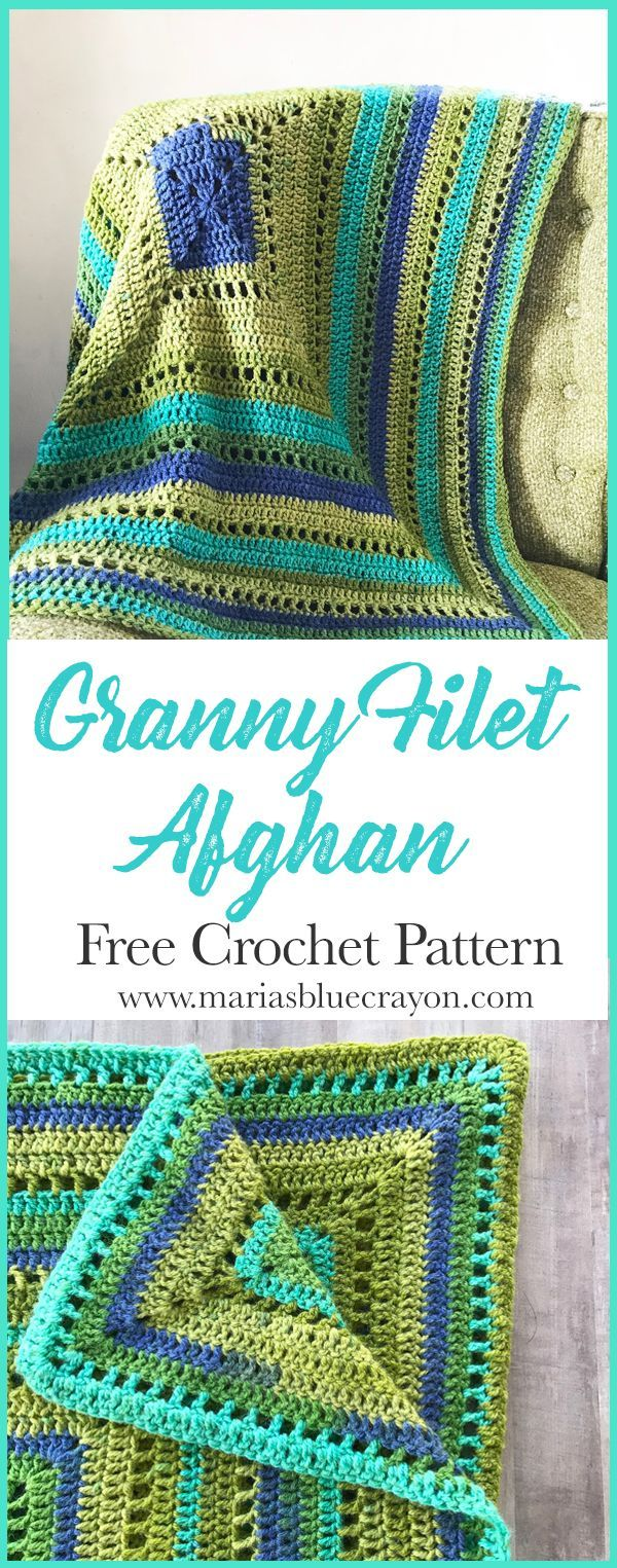 Granny Filet Square Afghan Crochet Pattern | DIY & Crafts that I ...