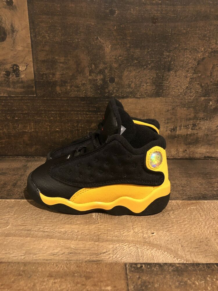 black and yellow jordans for kids off