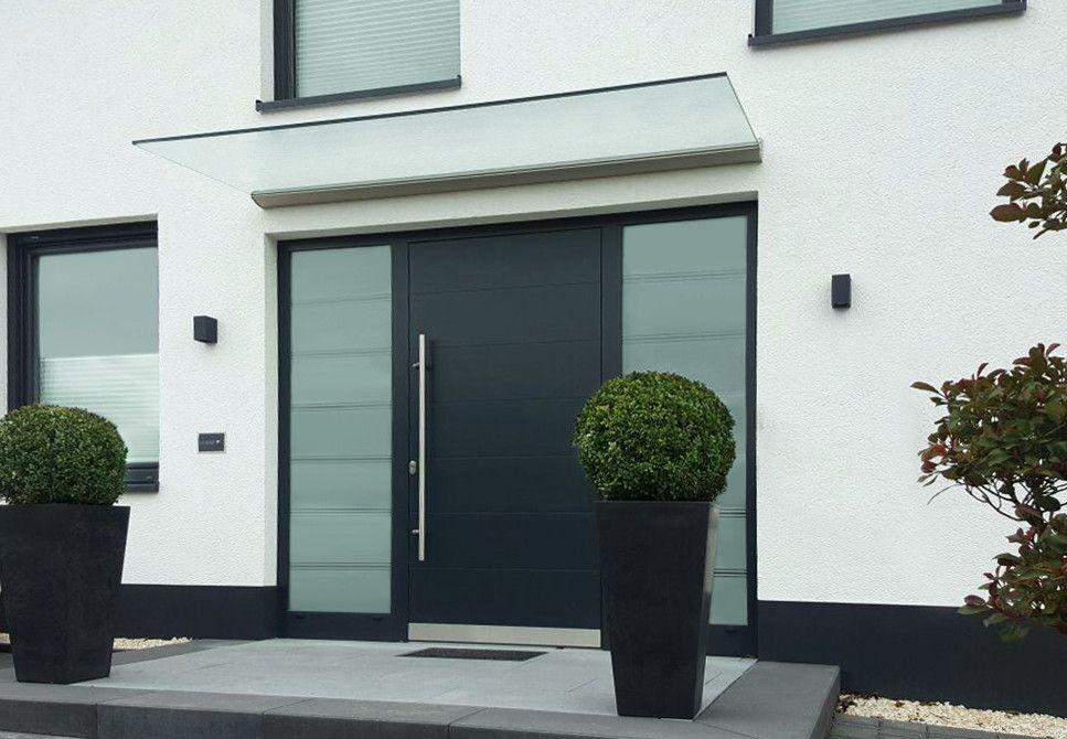 Windfang Hauseingang Glas freitragendes glas vordach dura für einen modernen und hellen