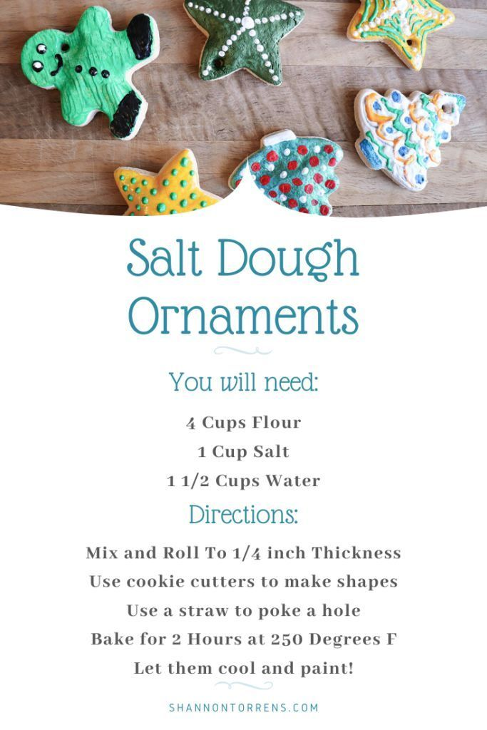 Salt Dough Ornaments -