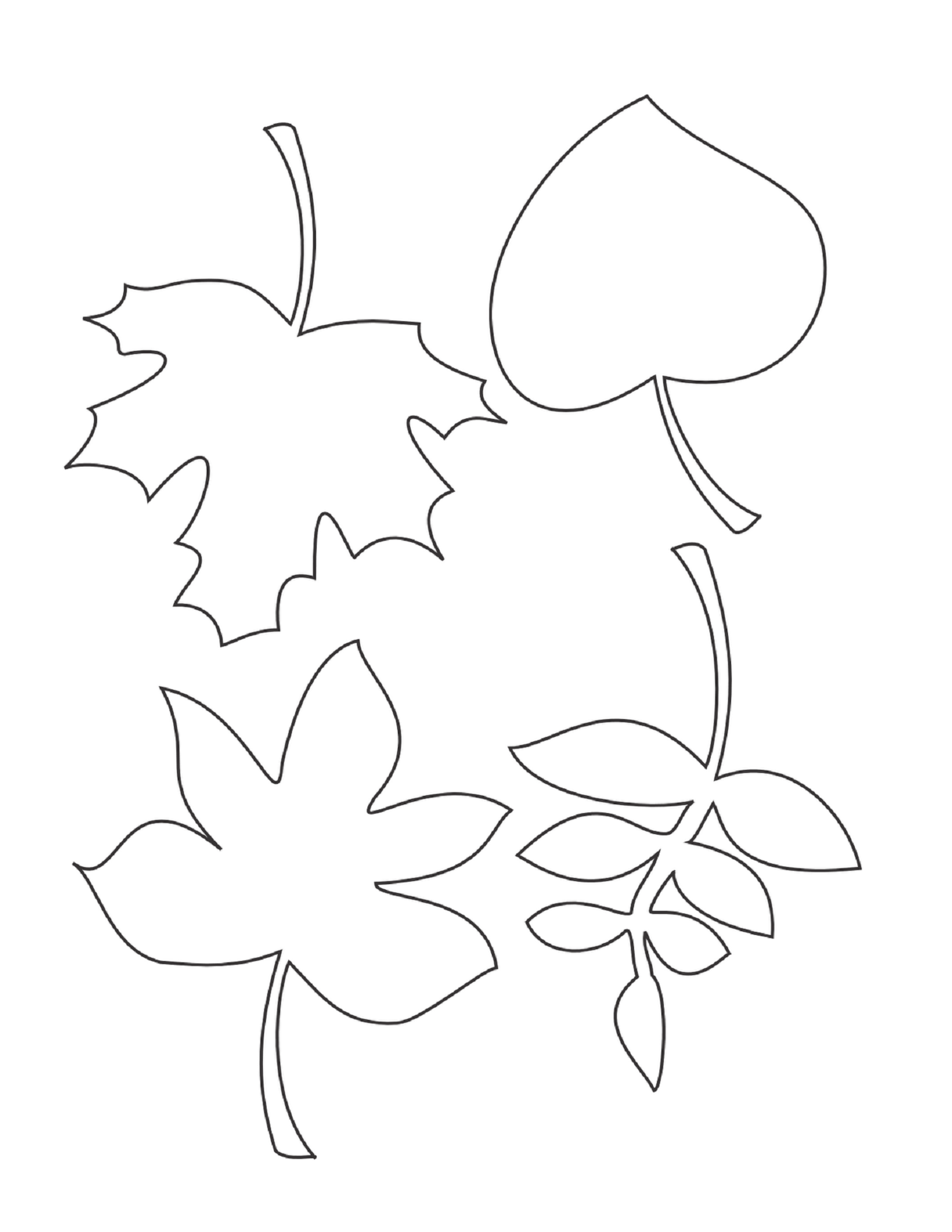 Leaf Coloring Page For Environment Theme Of Time