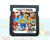 482 Games in 1 NDS Game Pack Cartridge Card For NDS Ndsl 2ds 3ds 3ds xl #shoegame