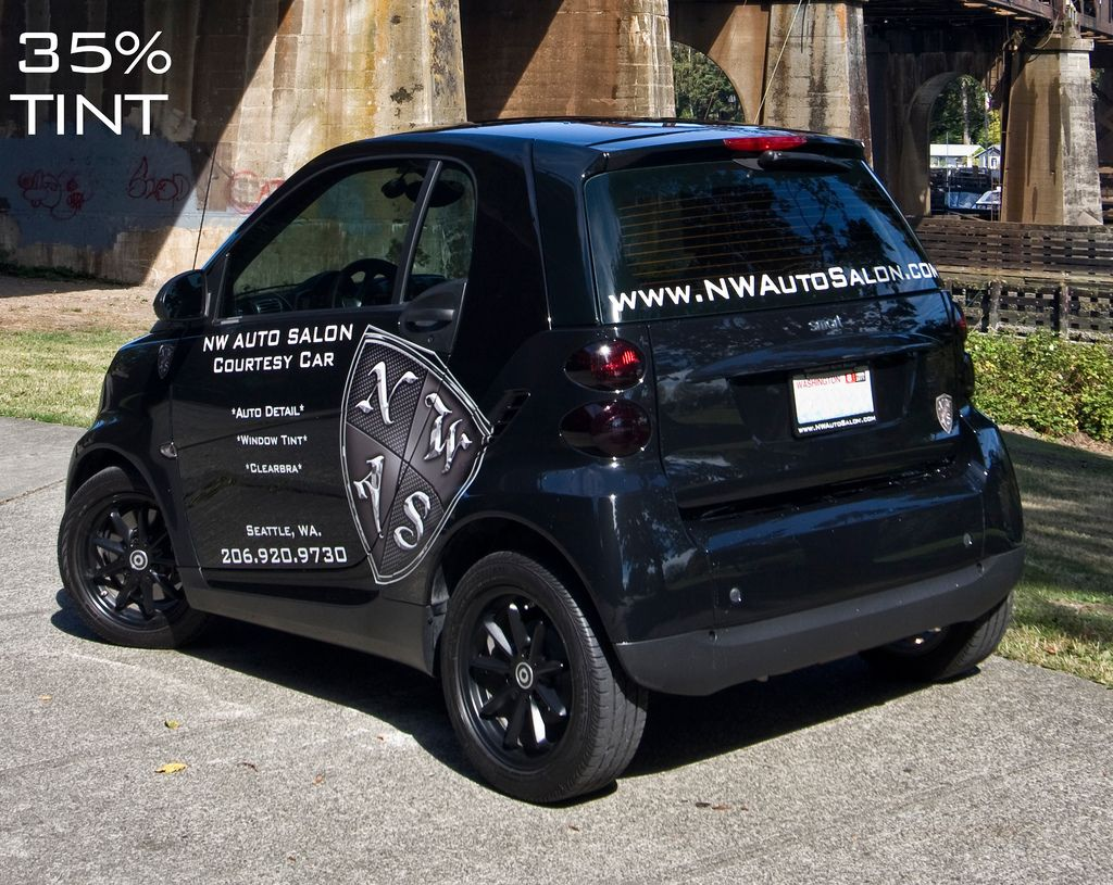 Smart Car Seattle: Smart Car Tinted 35% With Ceramic-Based Tint