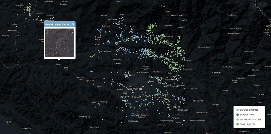 Kathmandu before and after the earthquake
