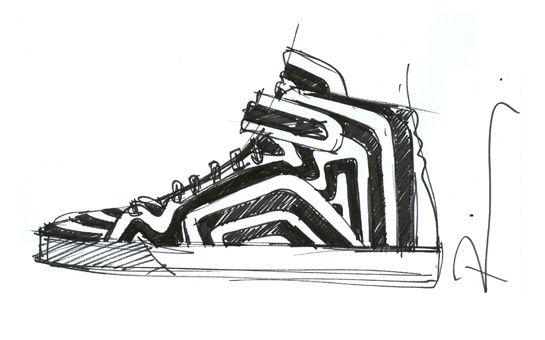 dff02d817eb Le croquis des sneakers Palais Royal signé Pierre Hardy http   www.vogue