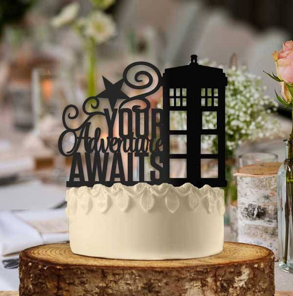This Doctor Who Themed Cake Topper Is Too Fun Your Adventure Awaits Tardis Wedding Ideas