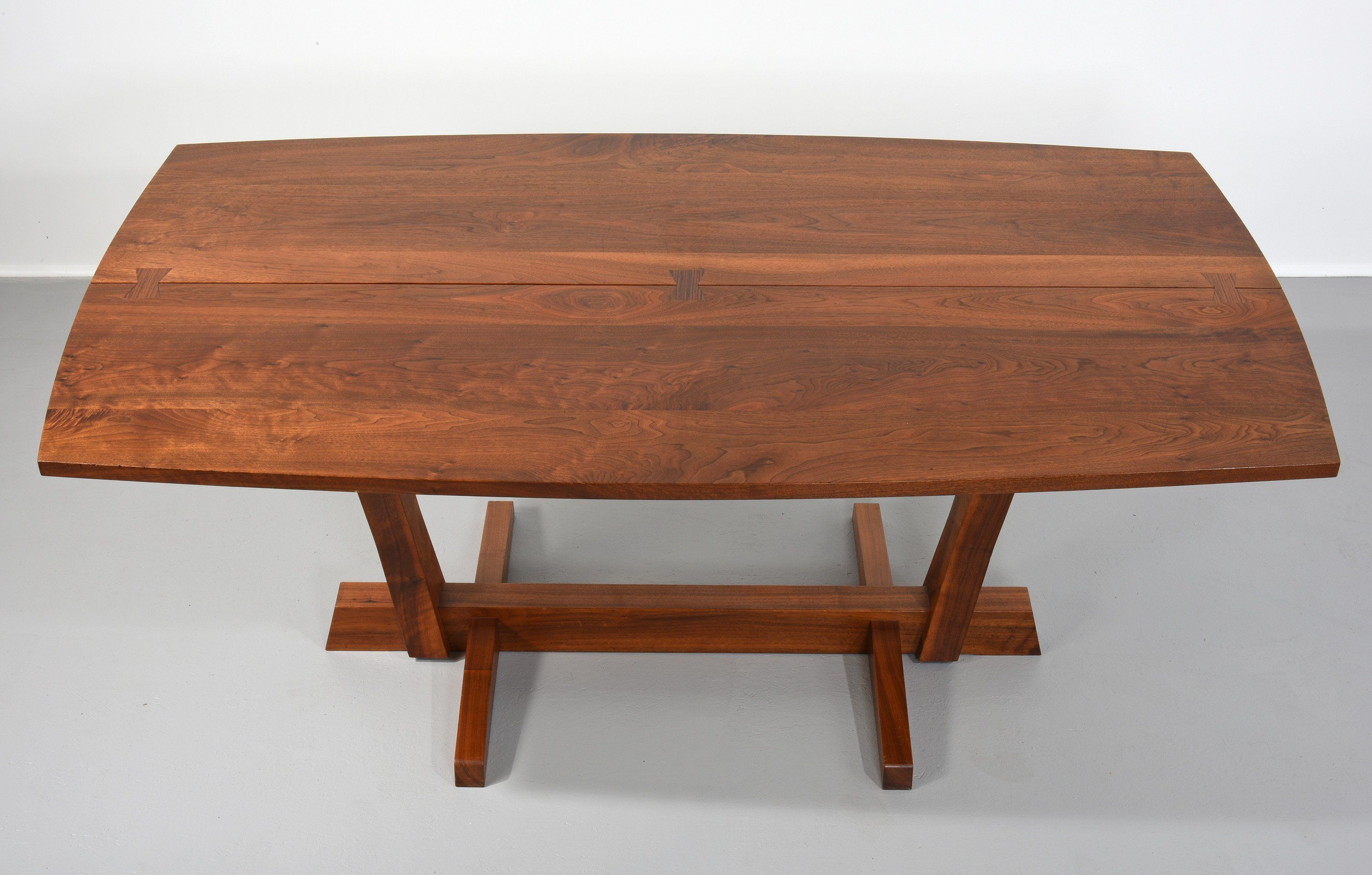 Early George Nakashima Walnut Conoid Dining Table with ...