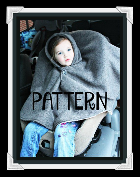 PDF PATTERN -Carseat Poncho - Instant download - Poncho - Toddler - Carseat Poncho - Carseat Canopy #babyponcho