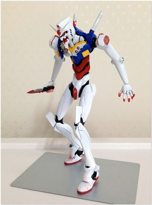 gundam evangelion crossover robotic