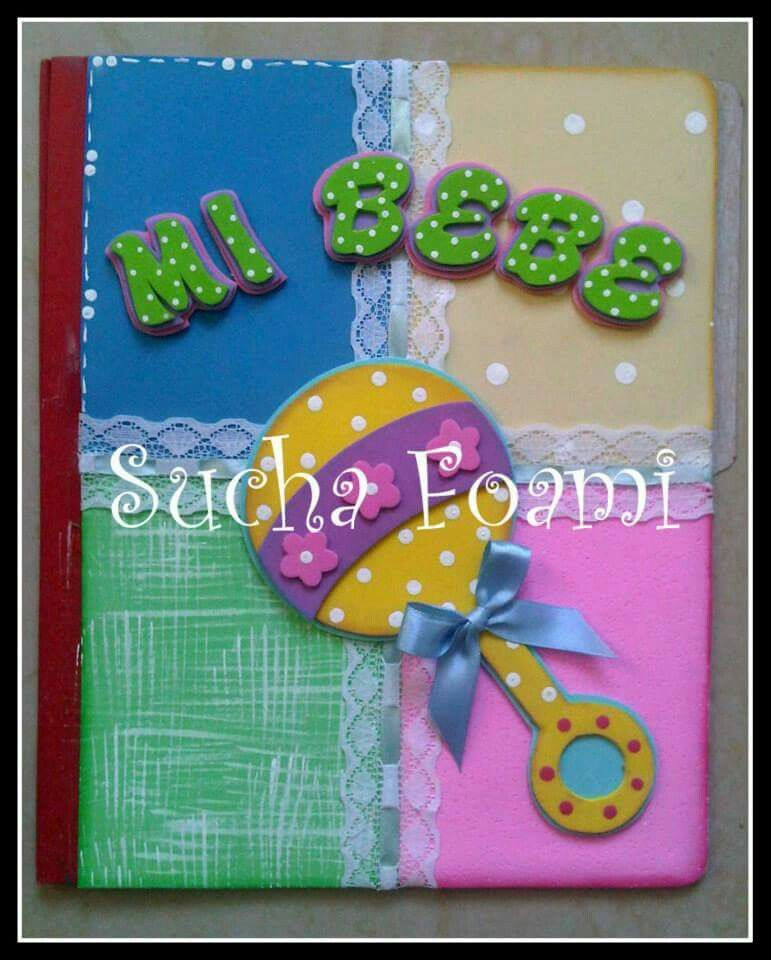Carpeta decorada cuaderno decorado con goma eva - Goma eva decorada ...