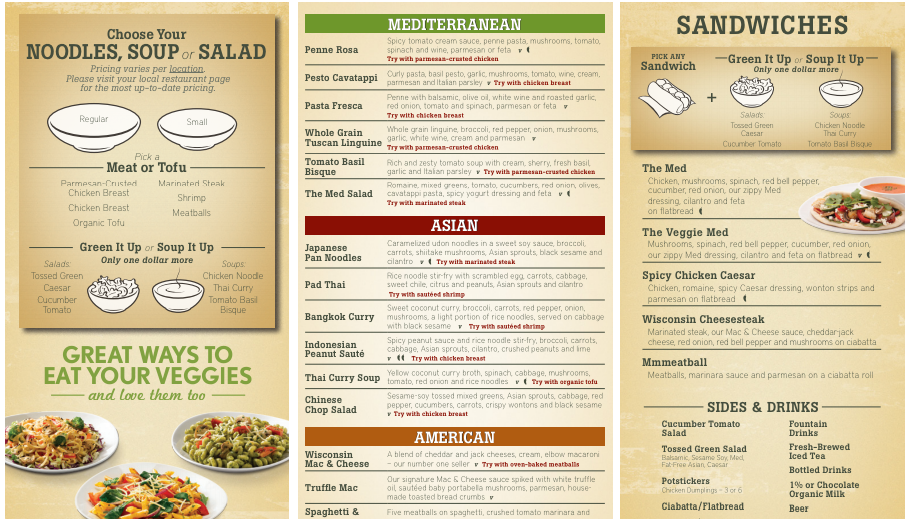 Image result for noodles and company menu Noodles and