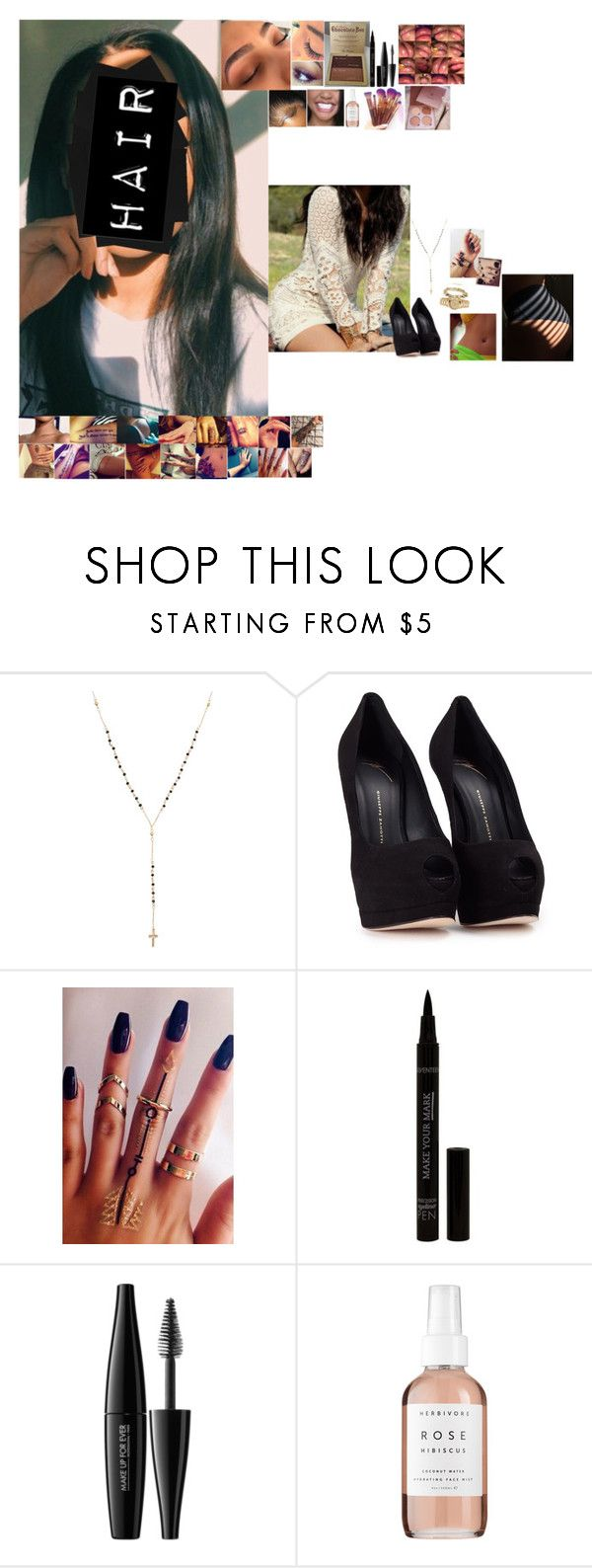 """""""Untitled #5617"""" by bby-16-gul ❤ liked on Polyvore featuring Giuseppe Zanotti, MAKE UP FOR EVER and Herbivore"""