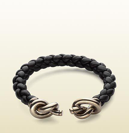 67c29d644 Fancy - Gucci - woven leather bracelet with knot details. 284498J89808163